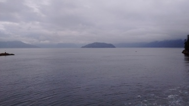 On the ferry to the Sunshine Coast, north of Vancouver