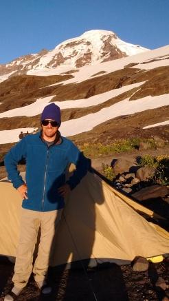Mt Baker climber's camp